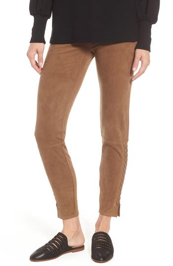 Lysse Mission Faux Suede Leggings, Brown