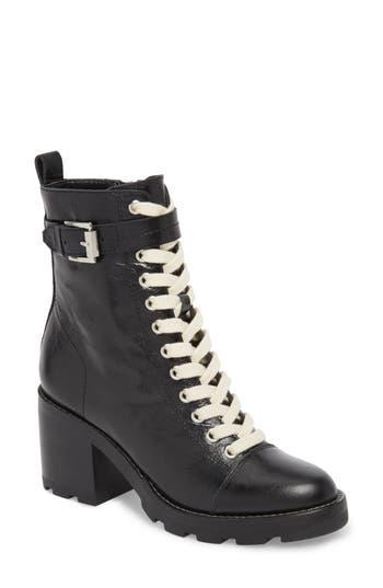 Marc Fisher Ltd Waren Combat Boot, Black