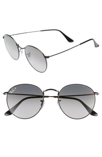 Ray-Ban 5m Polarized Round Sunglasses - Black / Grey