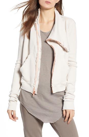 Frank & Eileen Tee Lab Asymmetrical Zip Fleece Jacket, Pink