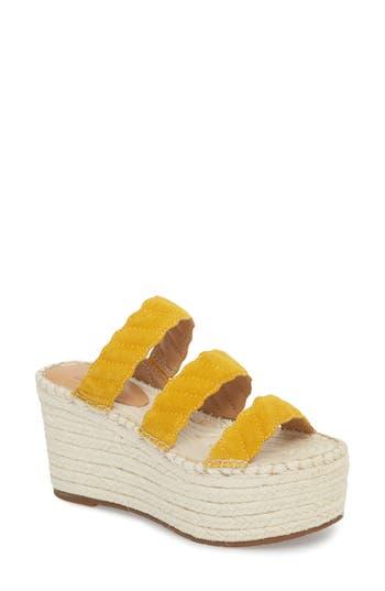Women's Marc Fisher Ltd Rosie Espadrille Platform Sandal, Size 8.5 M - Yellow