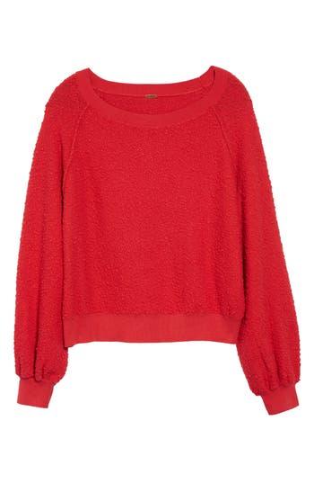 Free People Found My Friend Sweatshirt, Red