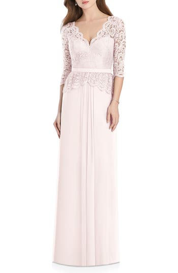 1940s Style Wedding Dresses | Classic Wedding Dresses Womens Jenny Packham Lux Chiffon Gown $284.00 AT vintagedancer.com