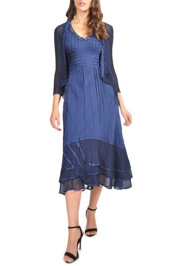 Komarov Layered Dress & Jacket, Blue