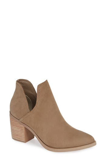Steve Madden Petra Open Side Bootie- Brown