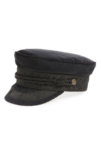 Albany Corduroy Fisherman Cap - Black, Blue