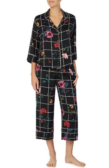 Room Service Crop Pajamas, Black