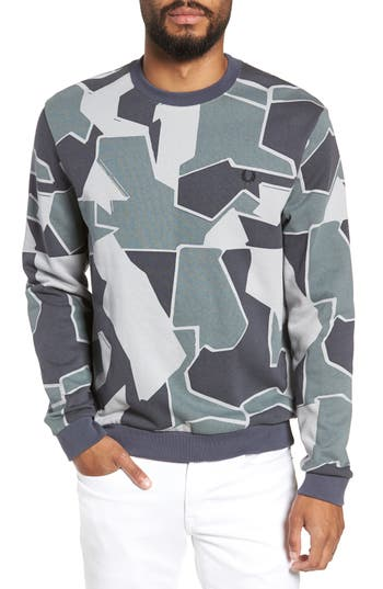 Fred Perry Camoflage Sweatshirt, Grey
