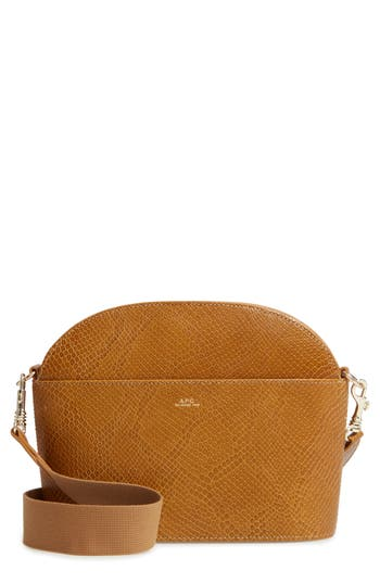 Gabrielle Sac Leather Shoulder Bag - Brown