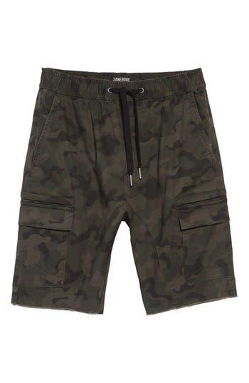 Zanerobe Sureshot Camo Cargo Shorts, Green