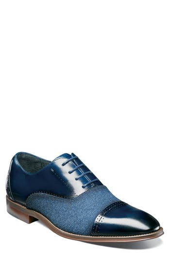 Stacy Adams Barrington Cap Toe Oxford- Blue