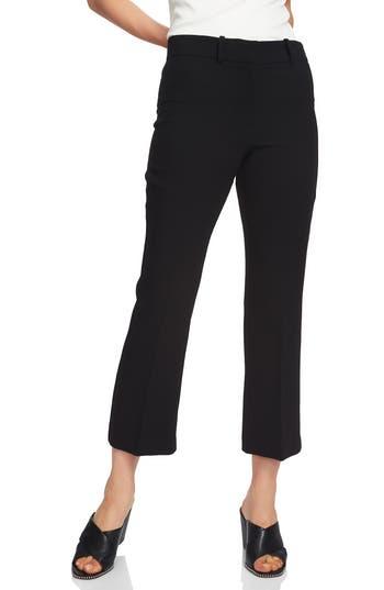1.state Mini Kick Flare Crop Pants, Black
