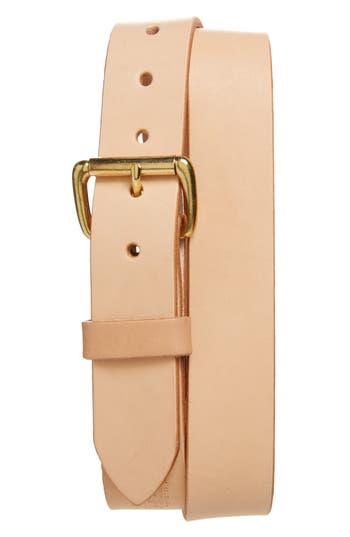 Tanner Goods Standard Leather Belt, Natural/ Brass