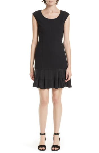 Rebecca Taylor Honeycomb Fit & Flare Dress, Black