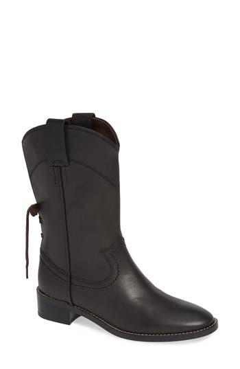 See By Chloe Annika Split Shaft Western Boot - Black