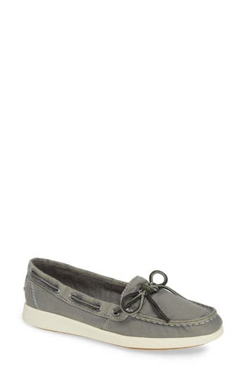 Oasis Boat Shoe, Grey Canvas
