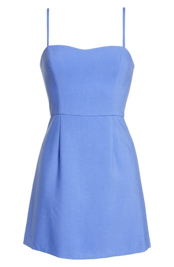 French Connection Whisper Light Sweetheart Minidress, Blue