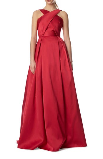 Ml Monique Lhuillier Cross Front Ball Gown, Pink
