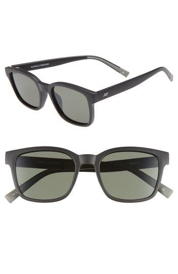 Le Specs Alpha Basic 5m Rectangular Sunglasses - Matte Black