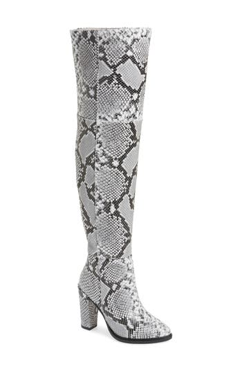 Alla Over The Knee Boot, Snake Print Leather