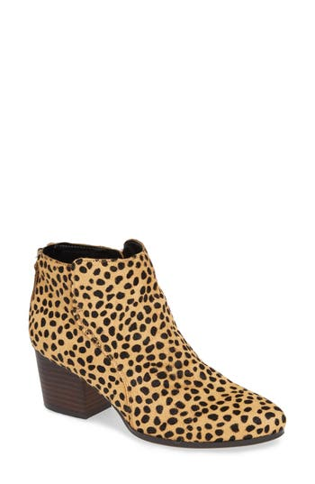 Sole Society River Genuine Calf Hair Bootie, Brown