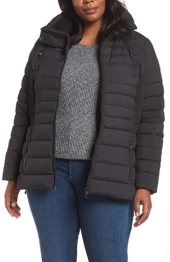 Plus Size Bernardo Micro Touch Quilted Jacket, Black