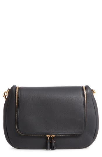 Maxi Vere Soft Satchel Shoulder Bag - Black