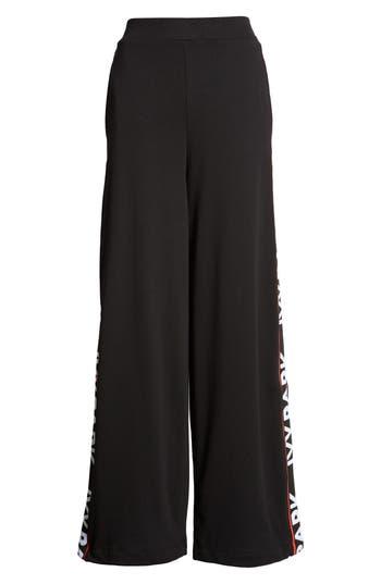 Flatknit Wide Leg Trousers, Black