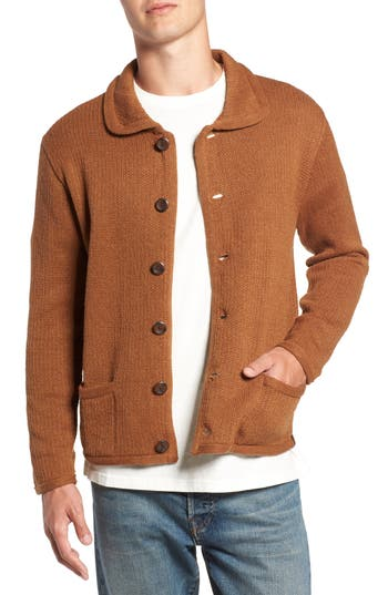 Brixton Powell Cardigan, Brown