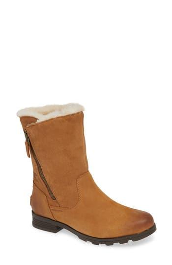 Sorel Emelie Waterproof Faux Fur Lined Boot, Brown