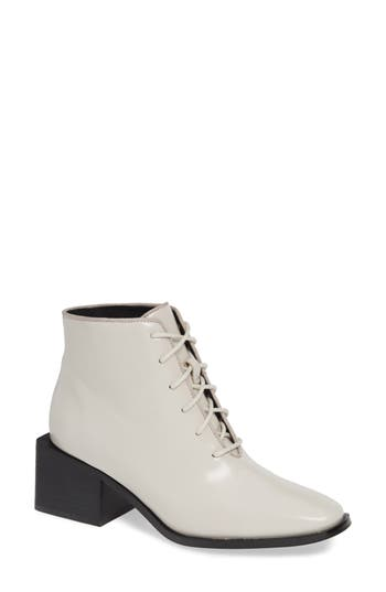 Jeffrey Campbell Talcott-3 Lace-Up Bootie, Ivory