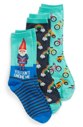 3-Pack Gnome Socks, Blue