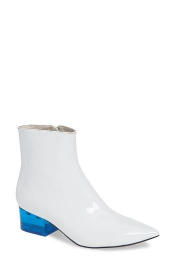 Jeffrey Campbell Luminate Bright Heel Bootie, White