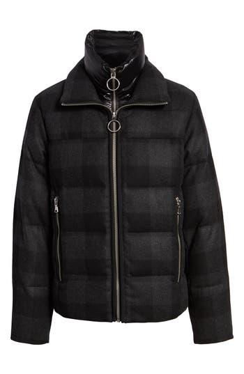 The Very Warm Plaid Wool Bib Puffer Jacket