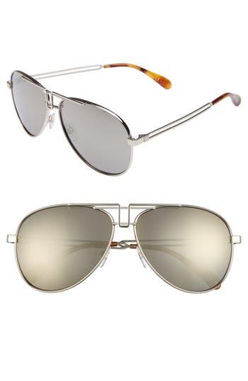 Givenchy 61Mm Aviator Sunglasses - Palladium