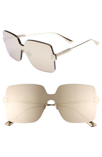 Christian Dior Quake1 147Mm Square Rimless Shield Sunglasses - Gold Copper