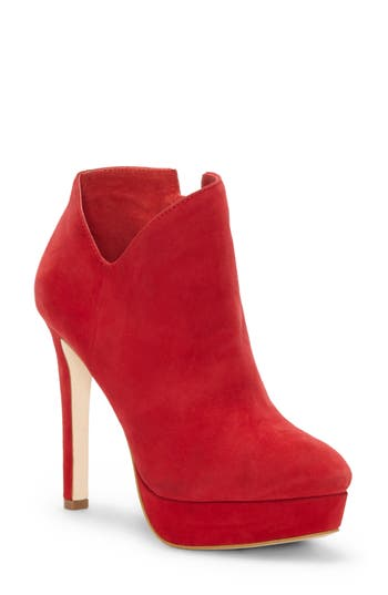 Jessica Simpson Rivera Platform Bootie- Red