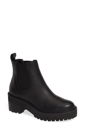 Linea Paolo Tate Platform Chelsea Boot, Black