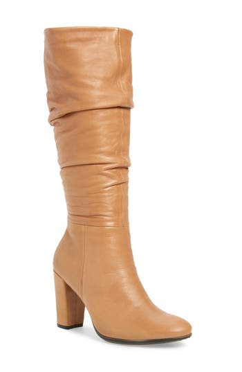 Ecco Shape 75 Slouch Knee High Boot, Brown