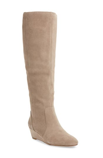 Sole Society Aileena Over The Knee Boot, Beige