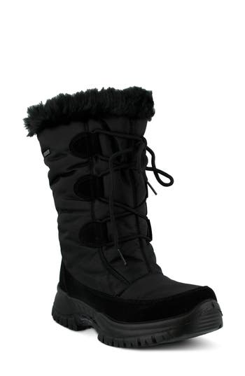 Spring Step Zurich Waterproof Faux Fur Boot - Black