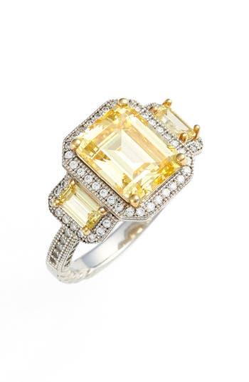 Women's Lafonn 'Lassaire' Yellow Three Stone Ring