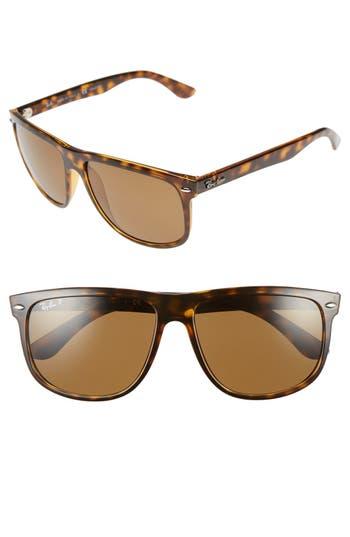 Women's Ray-Ban Highstreet 60Mm Polarized Flat Top Sunglasses -