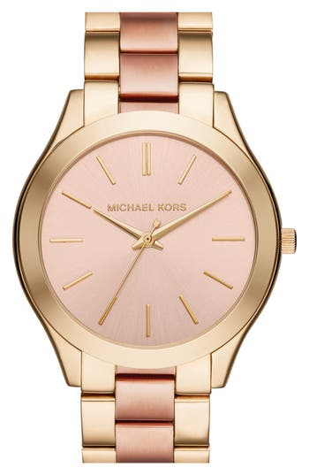 Women's Michael Kors 'Slim Runway' Bracelet Watch, 42Mm