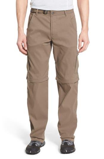 Prana Zion Stretch Convertible Cargo Hiking Pants, Brown