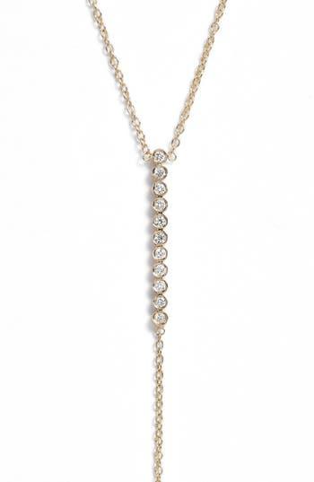 Zoe Chicco Diamond Bar Y-Necklace