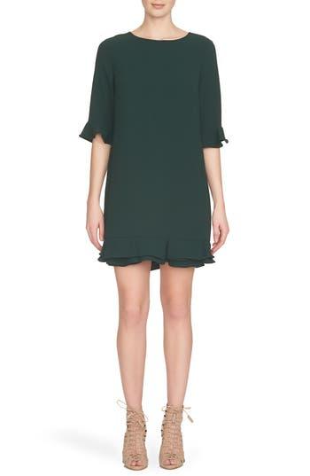 Women's Cece 'Kate' Ruffle Hem Shift Dress, Size 12 - Green