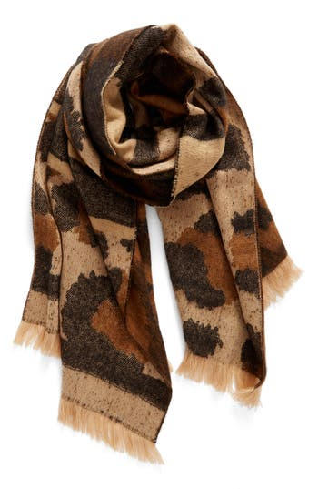 Women's Bp. Mixed Leopard Pattern Scarf