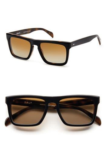 Men's Salt 'Roy' 54Mm Polarized Sunglasses - Black Oak
