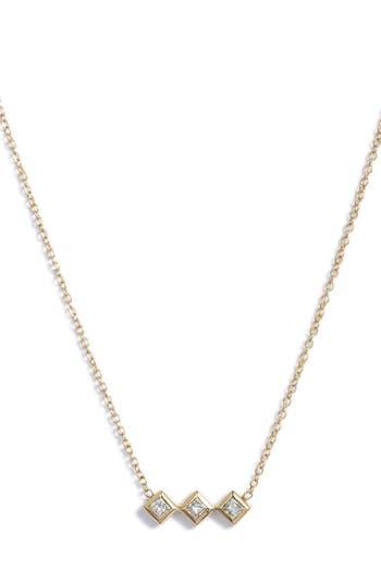 Zoe Chicco Princess Diamond Pendant Necklace